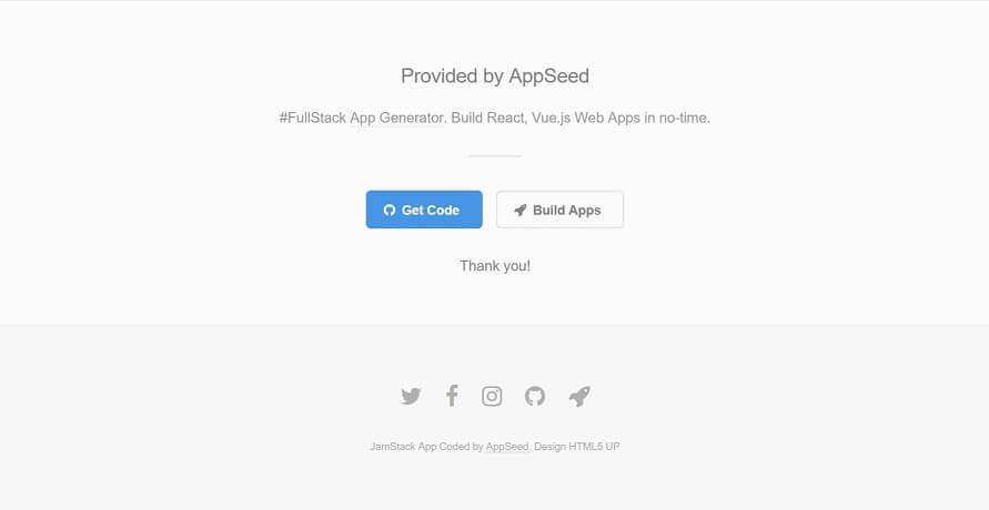 Footer Image of JAMStack Fractal Wep App.