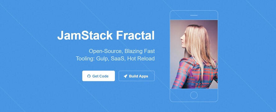 Top Image of JAMStack Fractal Wep App.