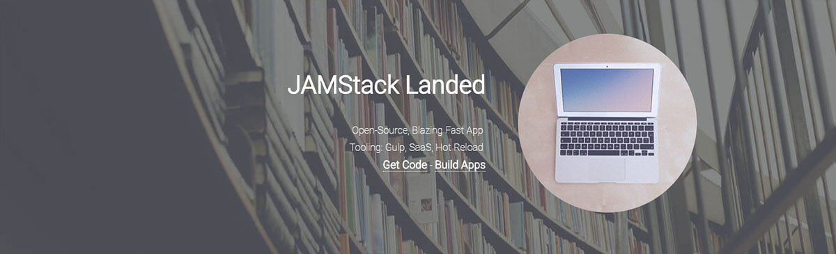 JamStack App Landed coded by AppSeed App Generator