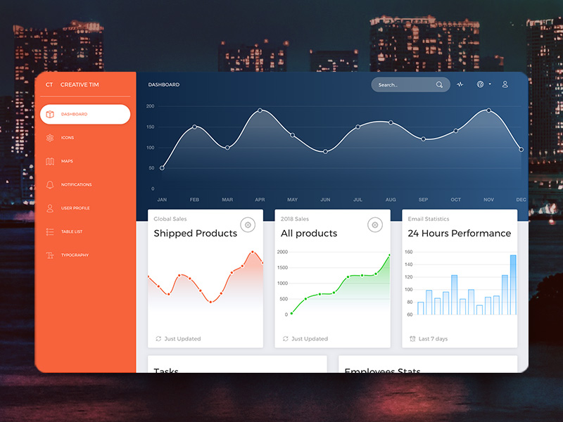 Full Stack App - Material Dashboard