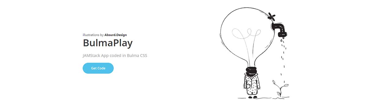 JamStack BulmaPlay Web App - Built with Bulma CSS